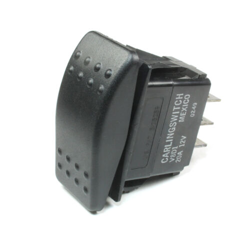 1pc Carling MOMENTARY Rocker Switch SPDT,  20A 12VDC, (ON) OFF (ON)  3PINS 24VDC