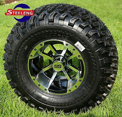 "GOLF CART 10"" STORM TROOPER ALUMINUM WHEELS and 22"" AT TIRES (SET OF 4)"