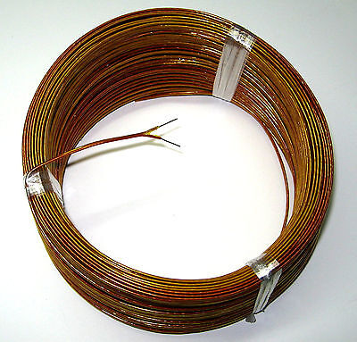 High Temperature K-type Thermocouple Wire Solid Awg 24 W. Kapton Insulation 5 Yd