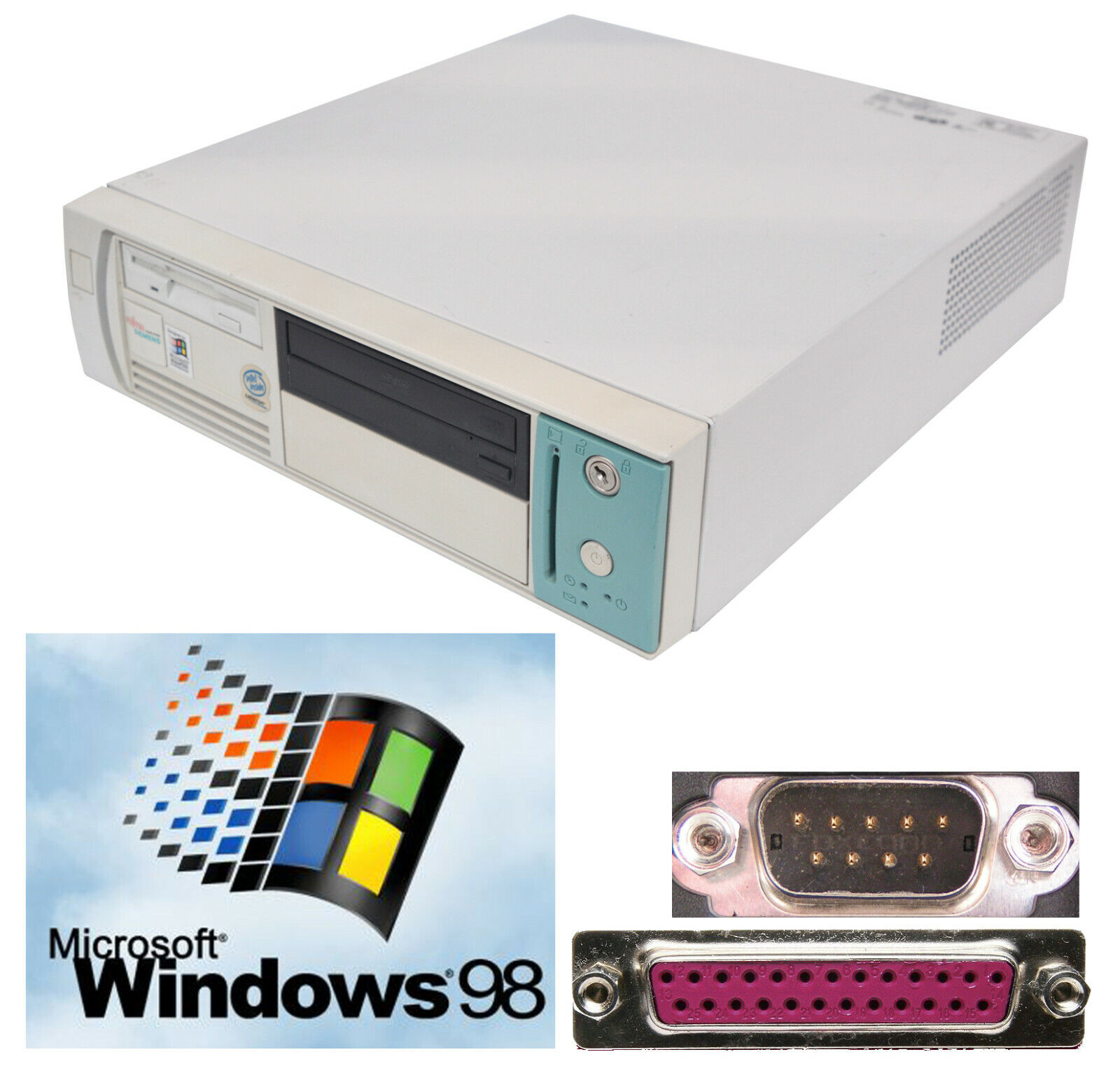 Computer Games - Computer With Windows 98 RS-232 Serial Parallel Lpt Also For Oldschool Games
