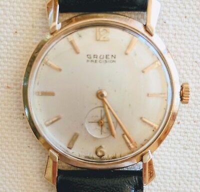 Vintage Gruen Classic 14 K Solid Gold,Mechanical,Fancy Lugged Men