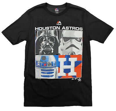 MLB Youth Houston Astros Star Wars Main Character T-Shirt, Black - Black Star Wars Characters