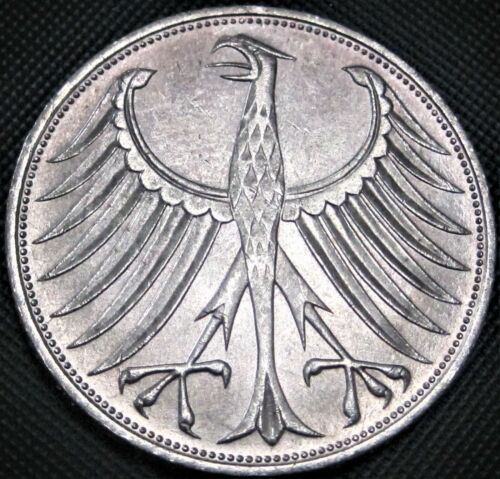 1971 D Germany Federal Republic 5 Mark, KM#112.1 - Silver Coin