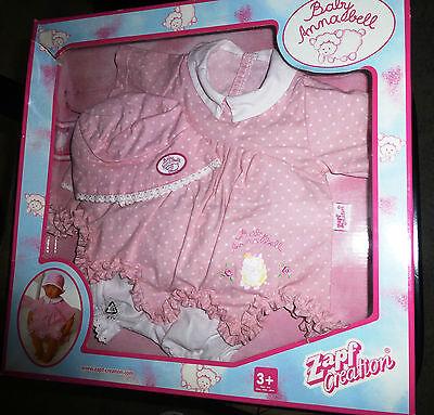 Baby Annabell Kleiderset rosa Kleid Höschen Hut für die 46 cm Puppe OVP