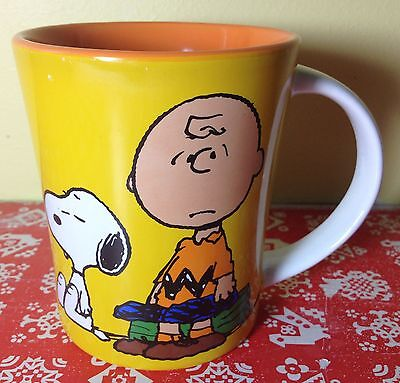 NEW Gibson Peanuts CHARLIE BROWN with SNOOPY 15 oz. Coffee Mug Cup