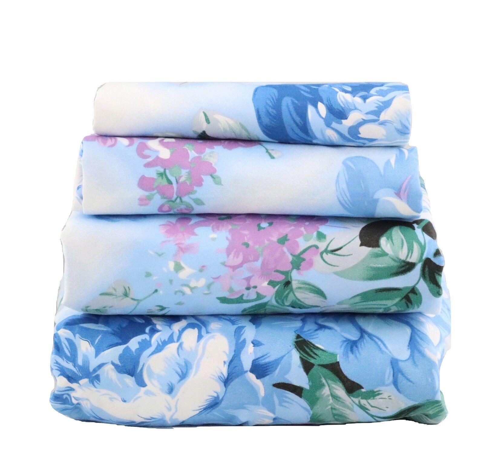 Beautiful Bedding Super Soft Egyptian Comfort Sheet Set Blue