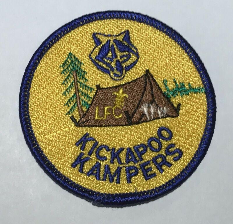Camp Kickapoo Kampers Patch Mint Last Frontier Oklahoma CF4