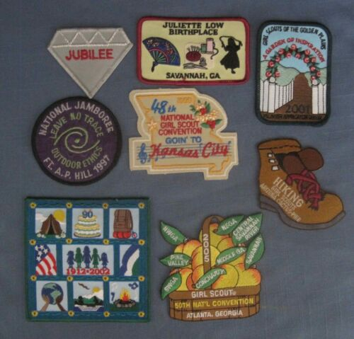 Girl Scout , Group of 8 Girl Scout Patches