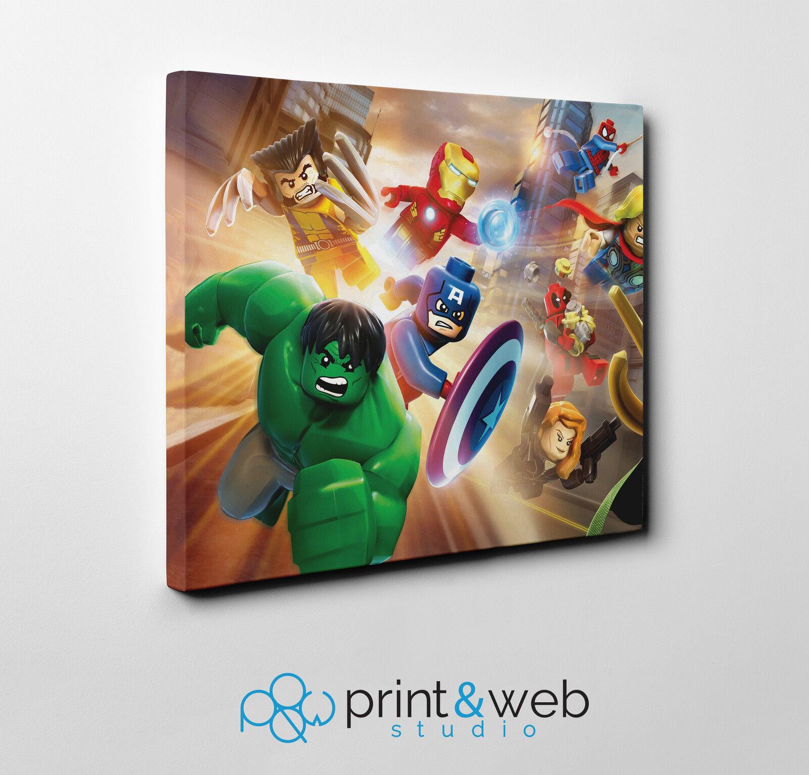 Lego Avengers Canvas Print Home Decor Art Kids Bedroom