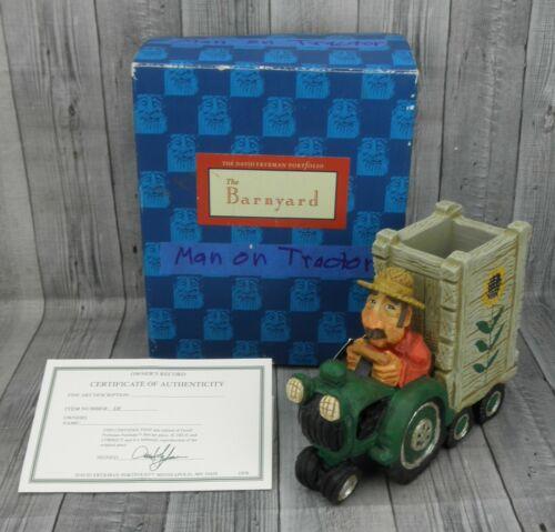 🔥David Frykman 2002 Truck Farm DF5011 Pencil Holder Figurine with COA🔥