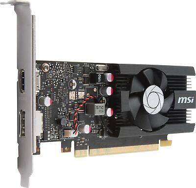 MSI GeForce GT 1030 2G LP OC Graphics Card, 2GB GDDR5, Fan Heatsink, Low Profile 2