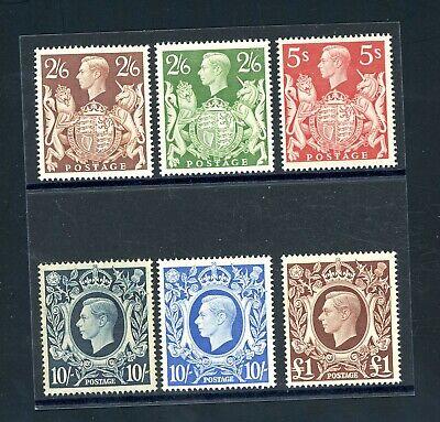 GB 1939/48  High Value Set (6)  L.H.M.      (P1187)