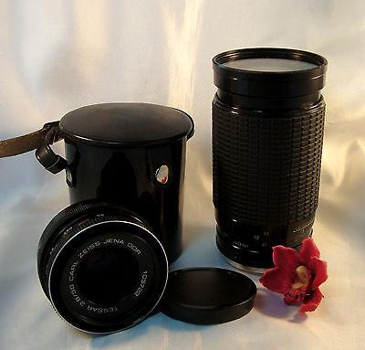 Toll Carl Zeiss Jena Objektiv 2.8 / 50 & Zigma Zoom Lens 35 - 200 mm / bo 930