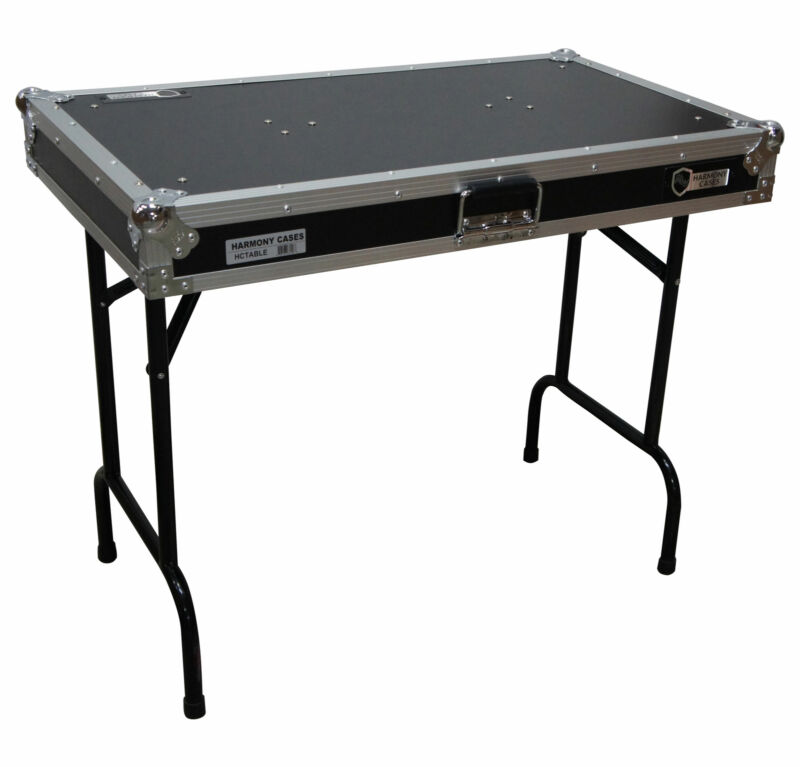 """Harmony HCTABLE  Portable 36"""" Wide DJ Workstation Table 30"""" Height"""
