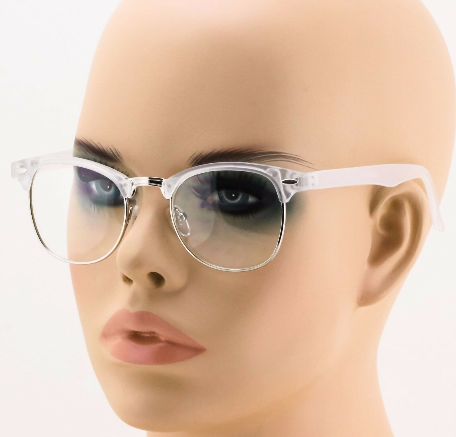 M: Large Oversized Glasses Clear Lens Thin Frame Nerd Big clear fashion glasses