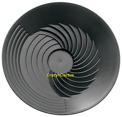 Turbopan Gold Pan Black 10 Vortex Action Panning Prospecting Sluice Turbo Pan