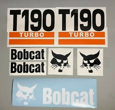 Bobcat T190 Turbo Set Of 7 Skid Steer Replacement Aftermarket Vinyl Decals