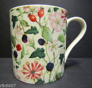 Heron Cross Hedgerow Chintz Extra Large Bone China One Pint Pot Mug