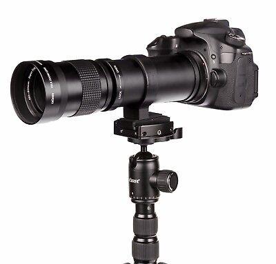 Teleobjektiv 420-800mm für Sony A-Mount Alpha 58, 65, 65v, 77, 99, 77-II...