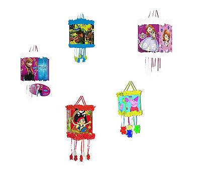 Birthday Party Pull String Pinata - Frozen, Peppa, Avengers, Sofia, Princess etc