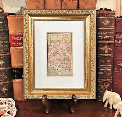 Framed Original 1886 Antique Map ARIZONA Prescott Maricopa Nogales Grand Canyon  Grand Canyon Arizona Framed