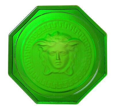Rosenthal Versace Medusa Glasuntersetzer Ø 10,5cm, II.Wahl in grün - AE 914