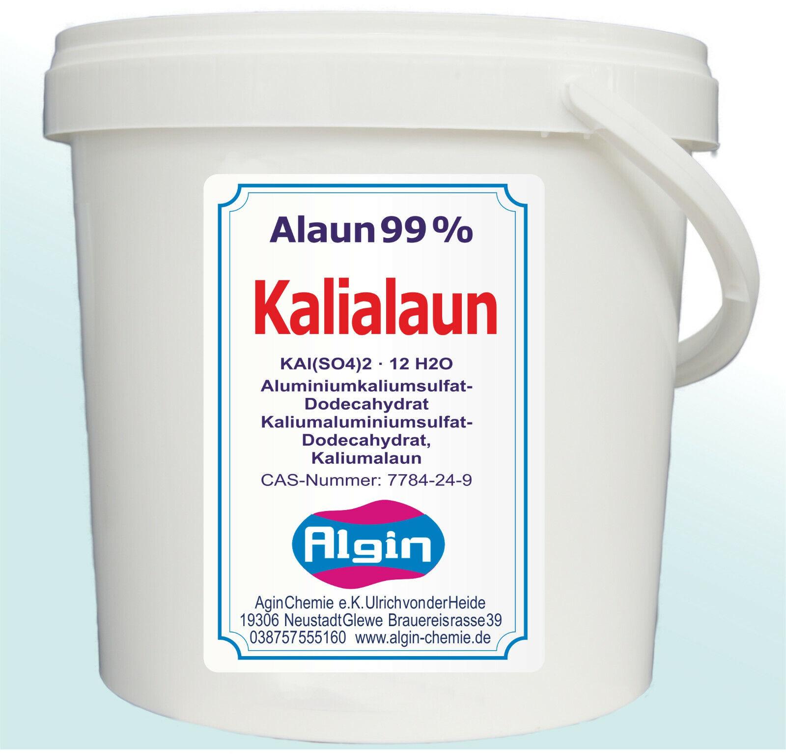Kalialaun 5 kg Eimer Kaliumaluminiumsulfat Alaun Hortensien Kristalle Knete