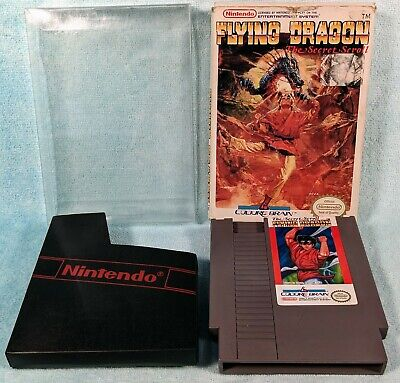 Flying Dragon: The Secret Scroll (Nintendo NES, 1989) w/ Box - Tested & Working!