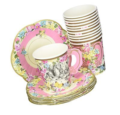 Talking Tables Alice In Wonderland Party Supplies | Tea Cups An... Free Shipping](Alice In Wonderland Birthday Supplies)
