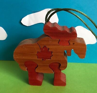 Cat Charity Auction Small Wooden Souvenir of Canada Mouse Puzzle