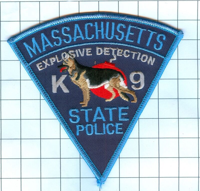 Police Patch  - K9 -  - Massachusetts State Police Exolosive Detection Unit