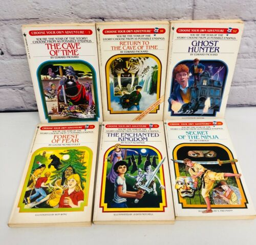 Vtg Choose Your Own Adventure Lot Of 6 Books Vol 1, 50, 52, 54, 56, 66 1980's