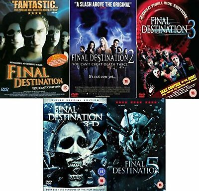 Final Destination DVD 1-5  Collection Part 1 2 3 4 5 All 5 Movies NEW REGION 2