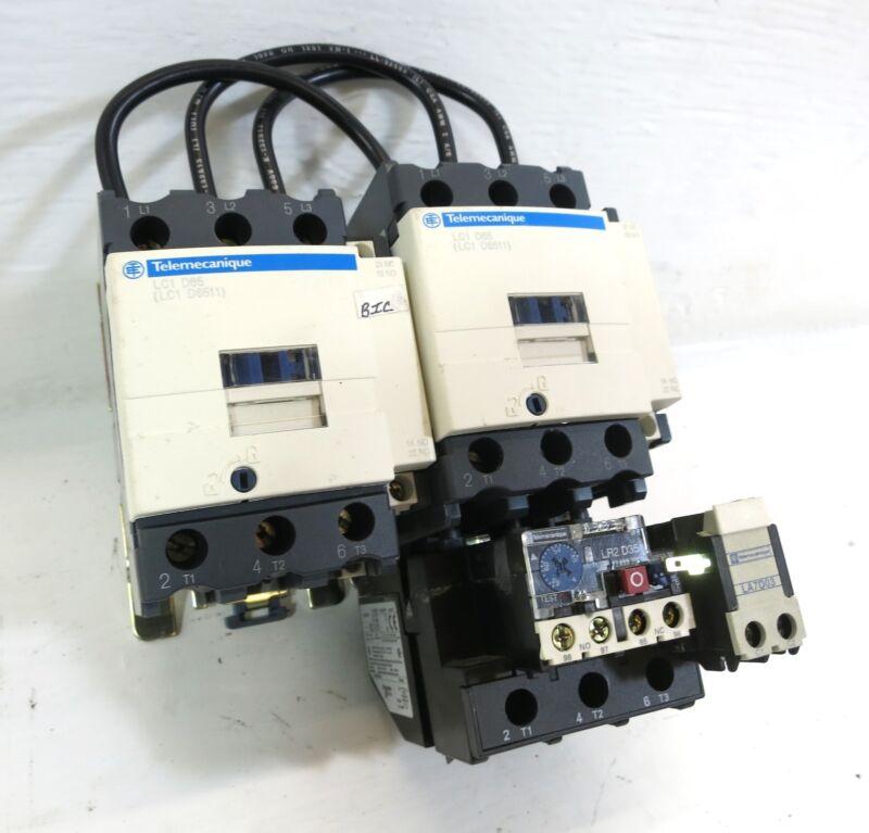 Telemecanique LC1D6511 Reversing Motor Starter LR2D3559 120V Coil LC1 D65 LR2D35