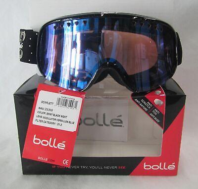 Bolle Scarlett Modulator Goggles 21317 Shiny Pink Plaid Vermillon Blue Lens