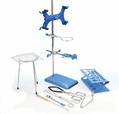 Research Grade Lab Starter Kit - Includes 24 Rod 8x5 Retort Base And More