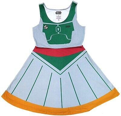 New Disney Parks Her Universe Boba Fett Women's Costume Skater Dress M](Boba Fett Dress)