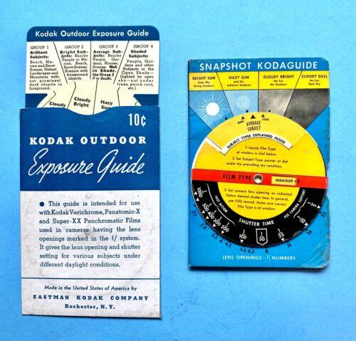 Kodak Snapshot Kodaguide Exposure Calculator & Outdoor Exposure Guide