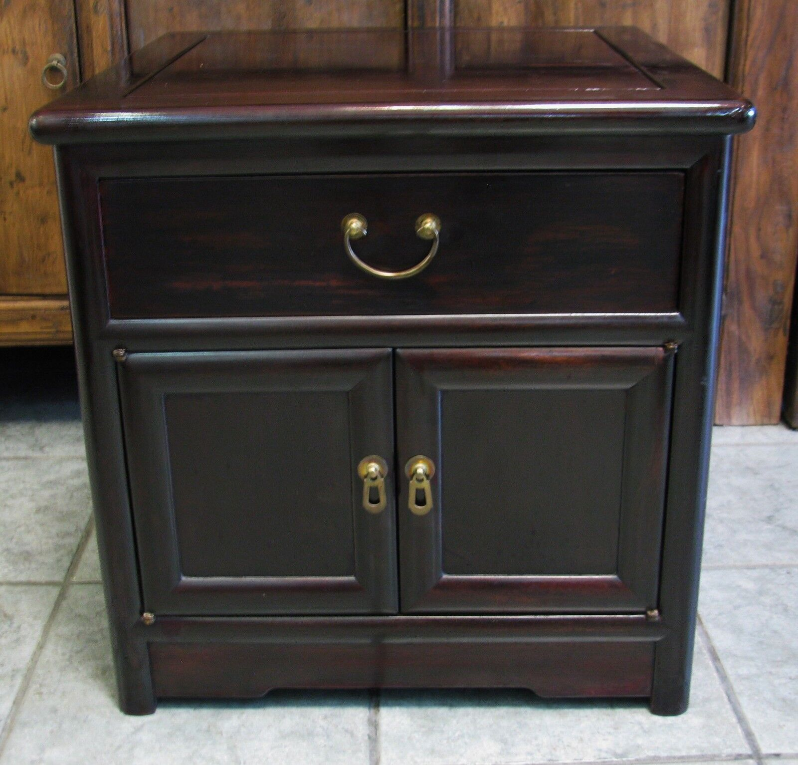 Antique Wooden Chinese Solid Rosewood Cabinet
