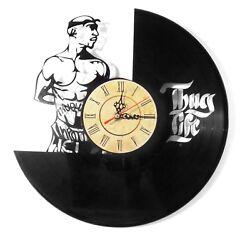 NEW  Vinyl Record Wall Clock Thug Life , modern decorative art ~ 12