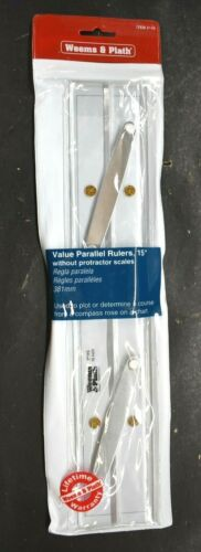 """Weems & Plath 15"""" 381 mm Value Parallel Ruler # 145 without Protractor Scale New"""