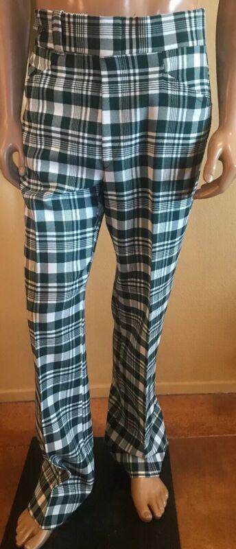 "A Jaymar Slack Mens Vintage Plaid Golf Pants Size 36""x 33.5""MOD Rare"