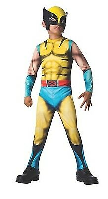 NWT DELUXE MUSCLED BOYS WOLVERINE HALLOWEEN COSTUME - COMIC CON - Wolverine Costume For Boys