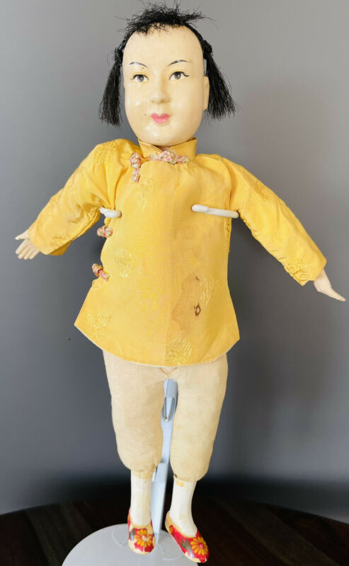 Vintage Composite Chinese Doll