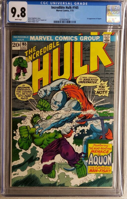 Incredible Hulk #165 cgc 9.8 White pages