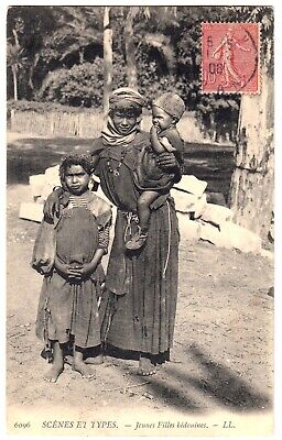 NORDAFRIKA JUNGE BEDOUININNEN MAGHREB VINTAGE 1900S ETHNIC PC
