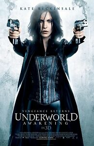 UNDERWORLD AWAKENING movie poster print  : 11 x 17 inches KATE BECKINSALE