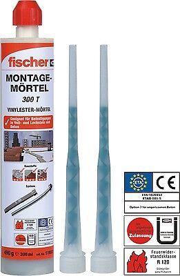 Fischer Montagemörtel 300 T, 300ml - Der  neu Verbundmörtel / Injektionsmörtel
