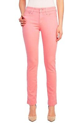 NYDJ 12P Sheri Skinny Flamingo Pink Tummy Tuck Jeans (Best for Size 10P) (Best Petite Skinny Jeans)