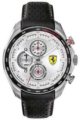 Scuderia Ferrari | Men's Speed-Racer | Black Leather 0830651 Watch - 8% OFF!